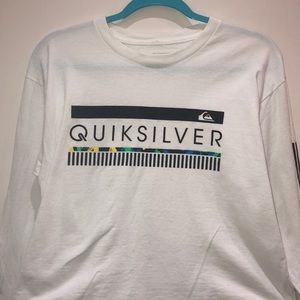 White Quiksilver Cropped T-shirt